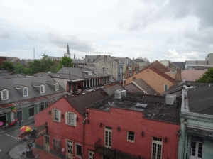 View of Bourbon & Toulouse Streets from Hotel Room