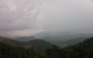 Rain over the Blue Ridge Mountains