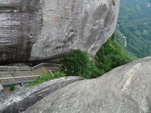 Descent from Chimney Rock, NC