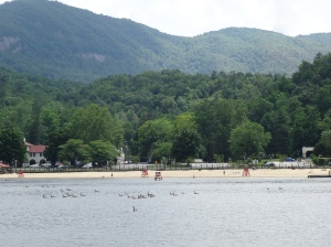 Beach at Lake Lure, NC
