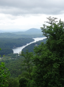 View of Lake Lure from Chimney Rock
