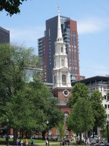 Park Street Church taken from the Boston Commons