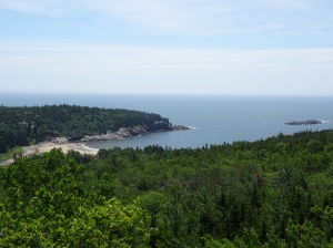 View of Sand Beach from the Bee Hive Trail