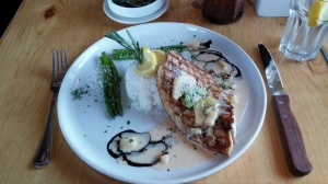 Baarramundi with Coconut Rice, Milano North, Lake Placid, NY
