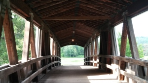 Inside Jackson's covered bridge