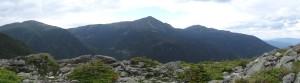 Panoramic view above Tuckerman's Ridge, Mt. Washington, NH