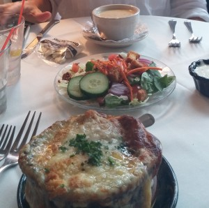 We couldn't resist trying the locals' favorite French Onion Soup