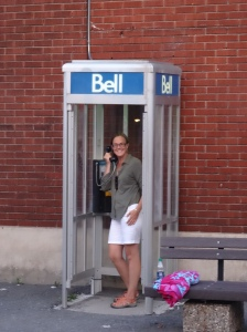 It's a good thing Ottawa still had phone booths since we had no cell service!