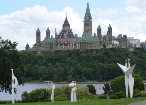 View of Parliament Hill from Gitaneau
