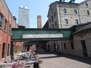 Sidewalk cafe in The Distillery Historic District