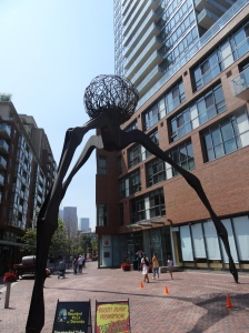 Spider sculpture in the Distillery Historic District