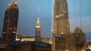 Rainy view from the Westin