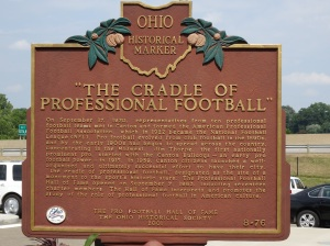 Story of why the Pro Football HOF is located in Canton