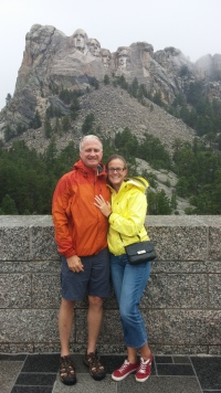 In the rain at Mt Rushmore