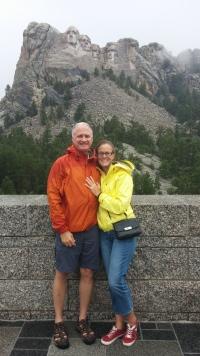 In the rain at Mt Rushmore