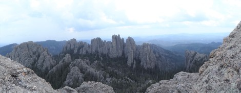 View of Cathedral Spires from Little Devil's Tower