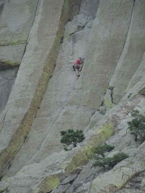 Climber on Devil's Tower