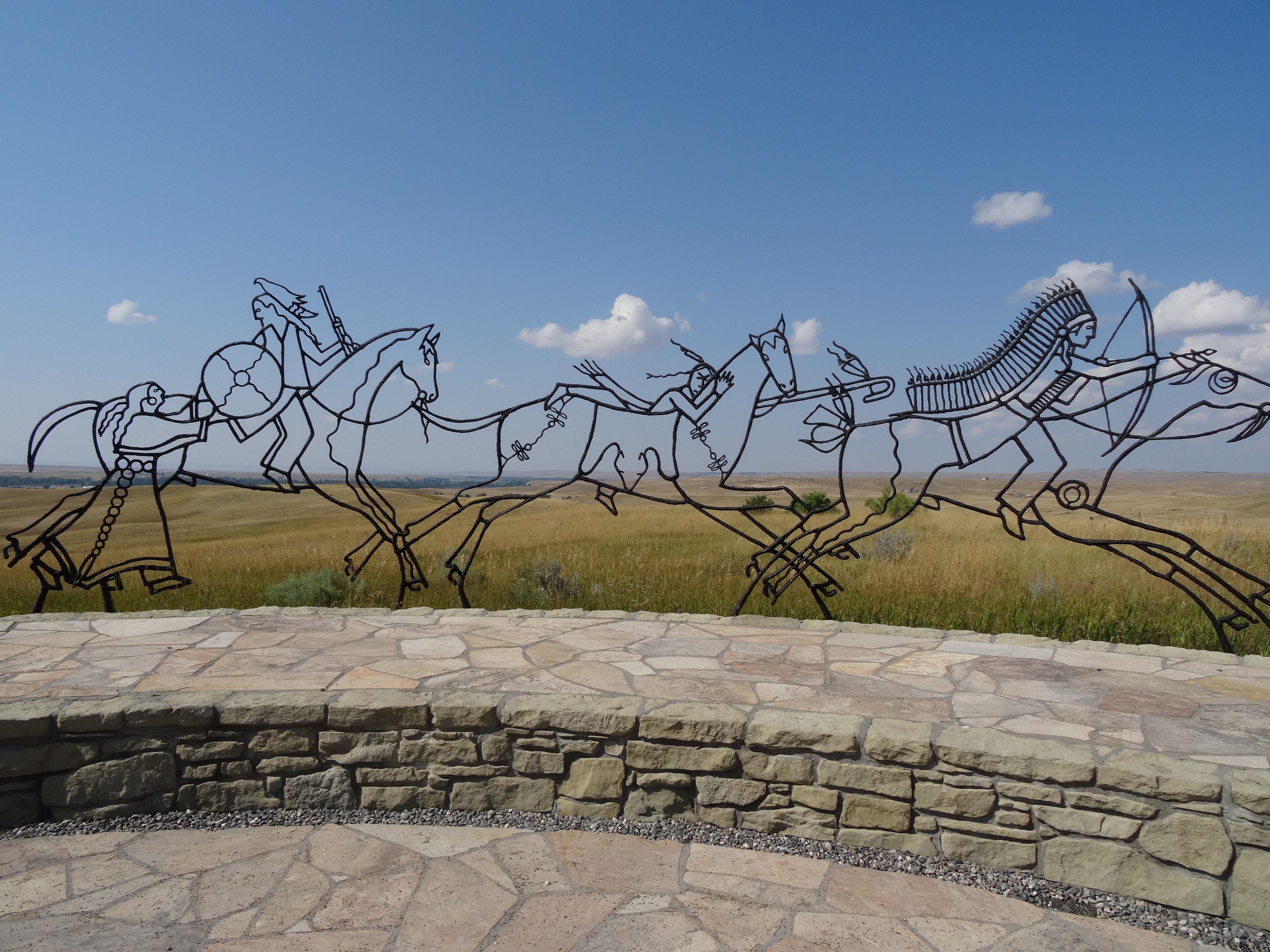 Indian Memorial at Little Bigfield Battlefield