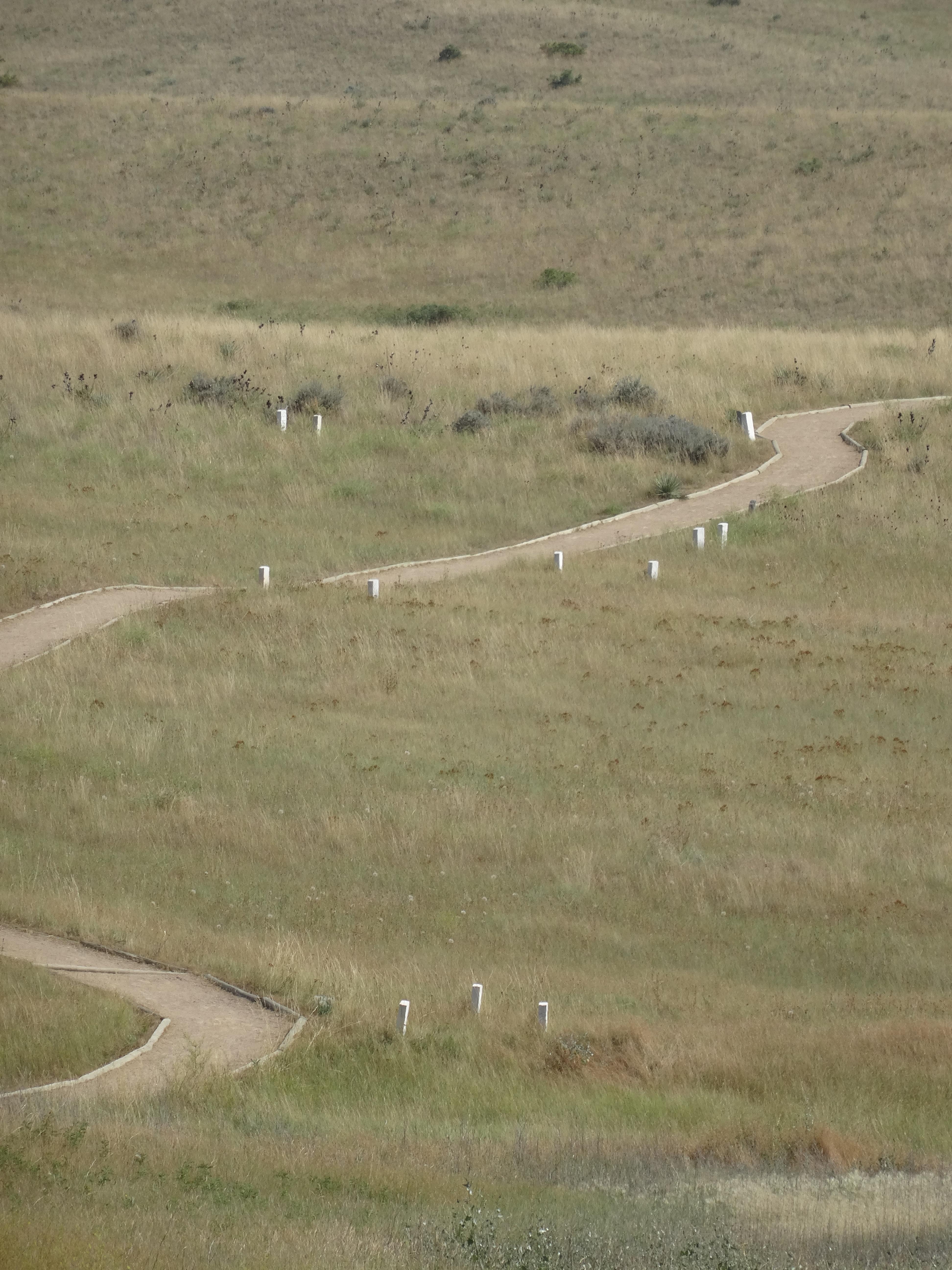 Path through Little Bighorn Battlefield