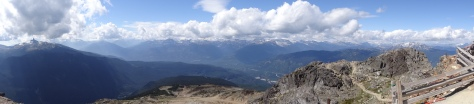 Panoramic from Whistler Peak