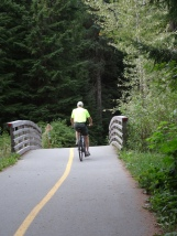 Trey on Whistler bikepath