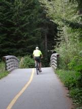 Trey on Whistler bikepath