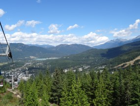 View of Whistler Village from Sky Lift