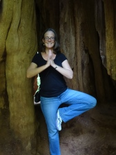 Tree Pose inside a Tree