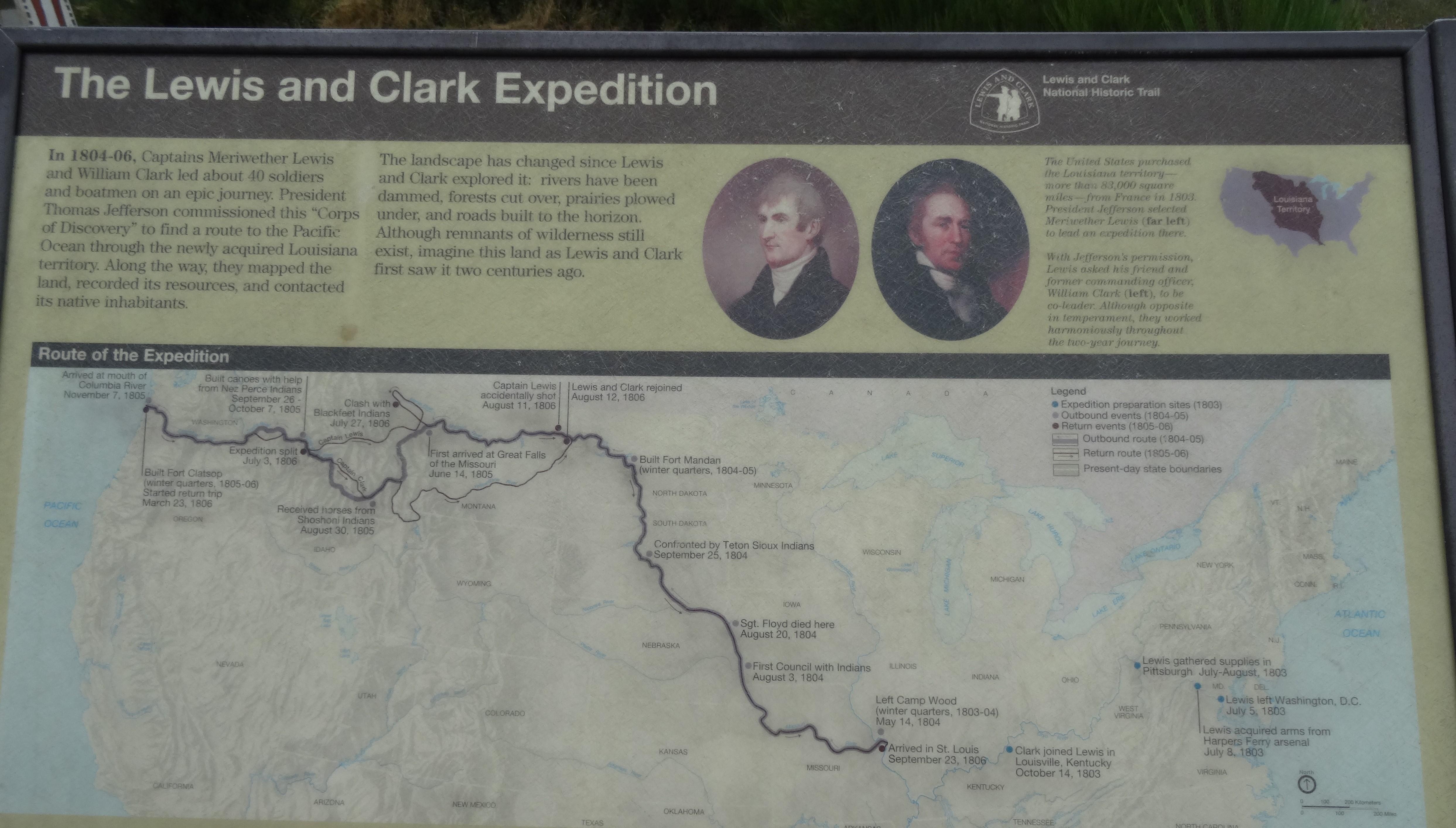 Lewis & Clark Routes