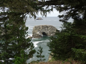 Arch Rock through the trees