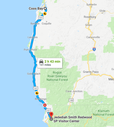 Coos Bay to Jedediah Smith