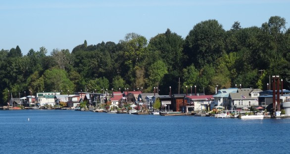 Floating Homes on the Willamette River, Portland
