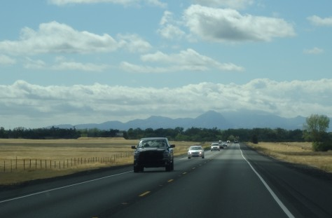 Heading into the Sierra Nevada Mts