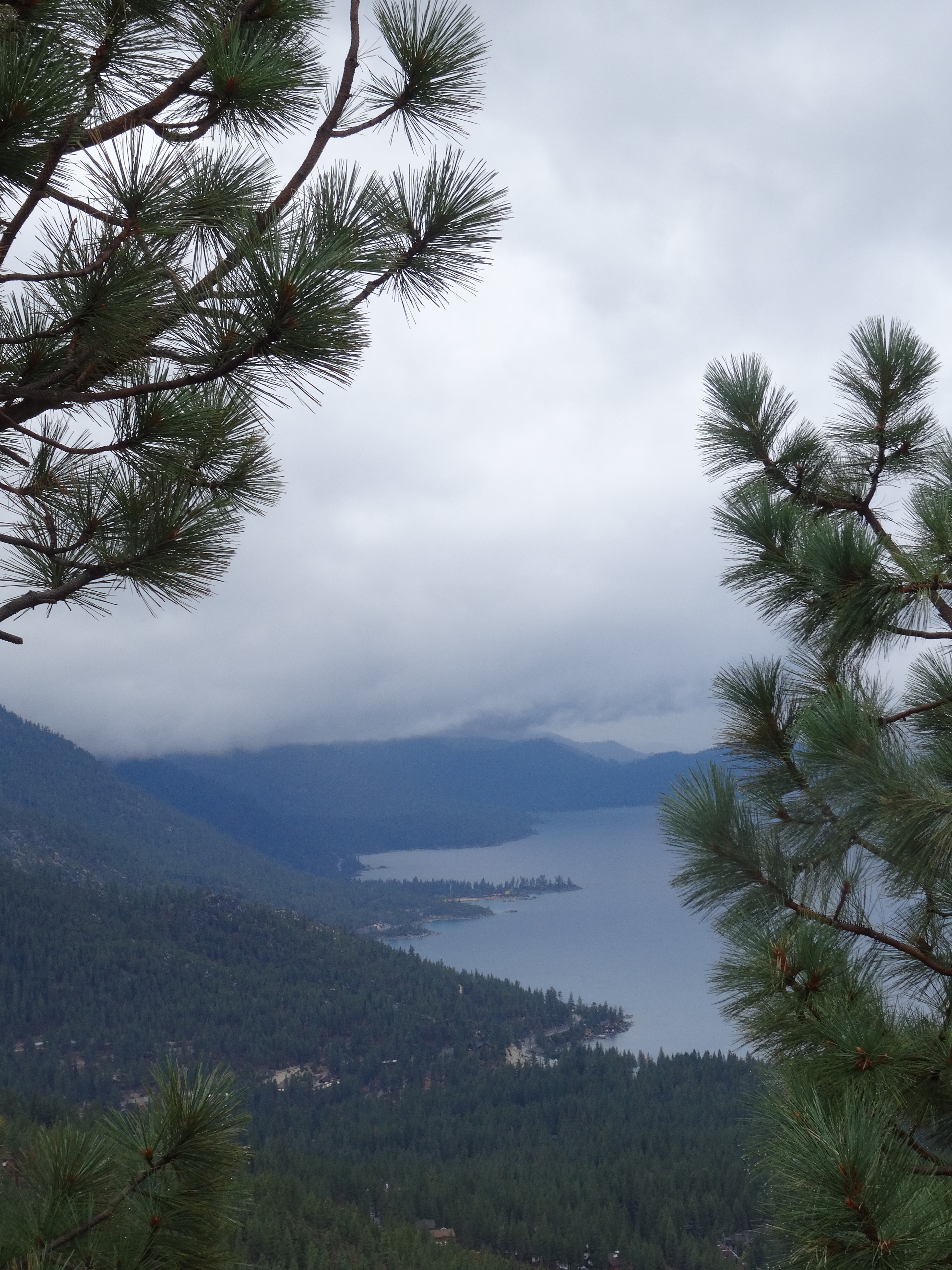 View of North Lake Tahoe heading up Mt Rose Hwy