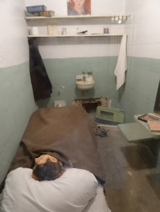 Recreation of cell used in notorious breakout and subject of the movie Escape From Alcatraz