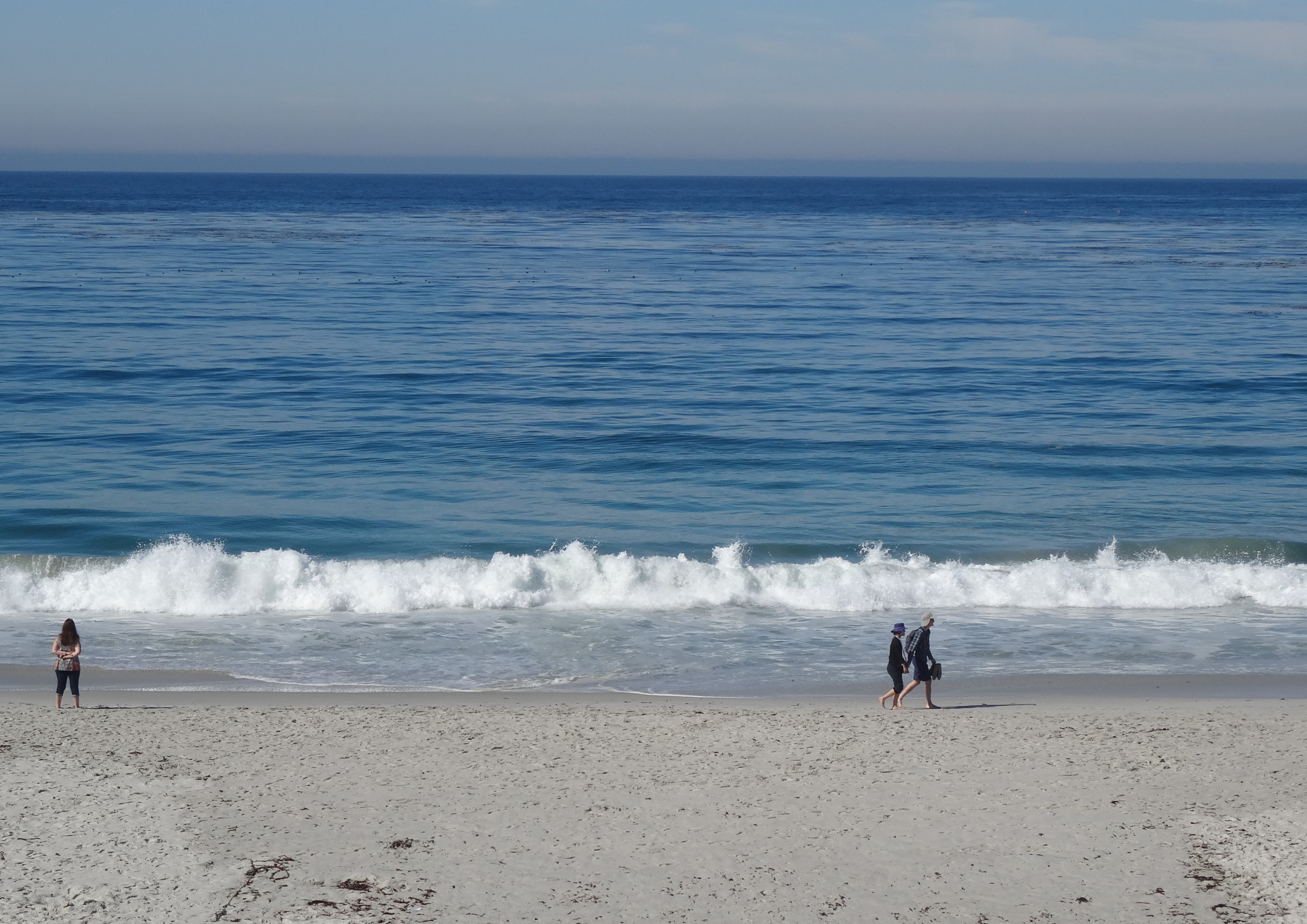Morning Beach Walkers, Carmel-by-the-Sea, CA