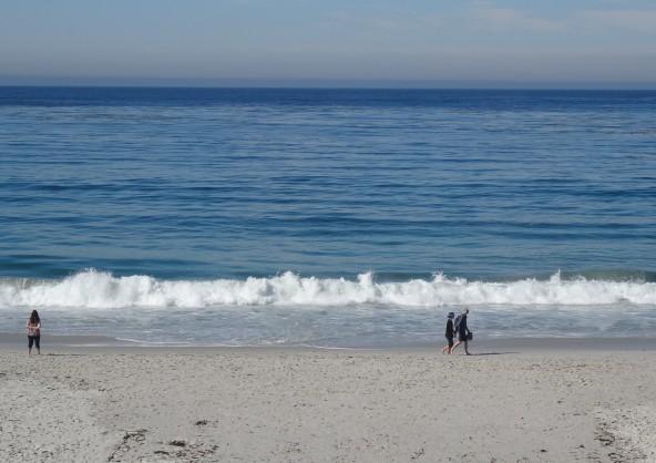 Morning Beach Walkers, Carmel-by-the-Sea, CA