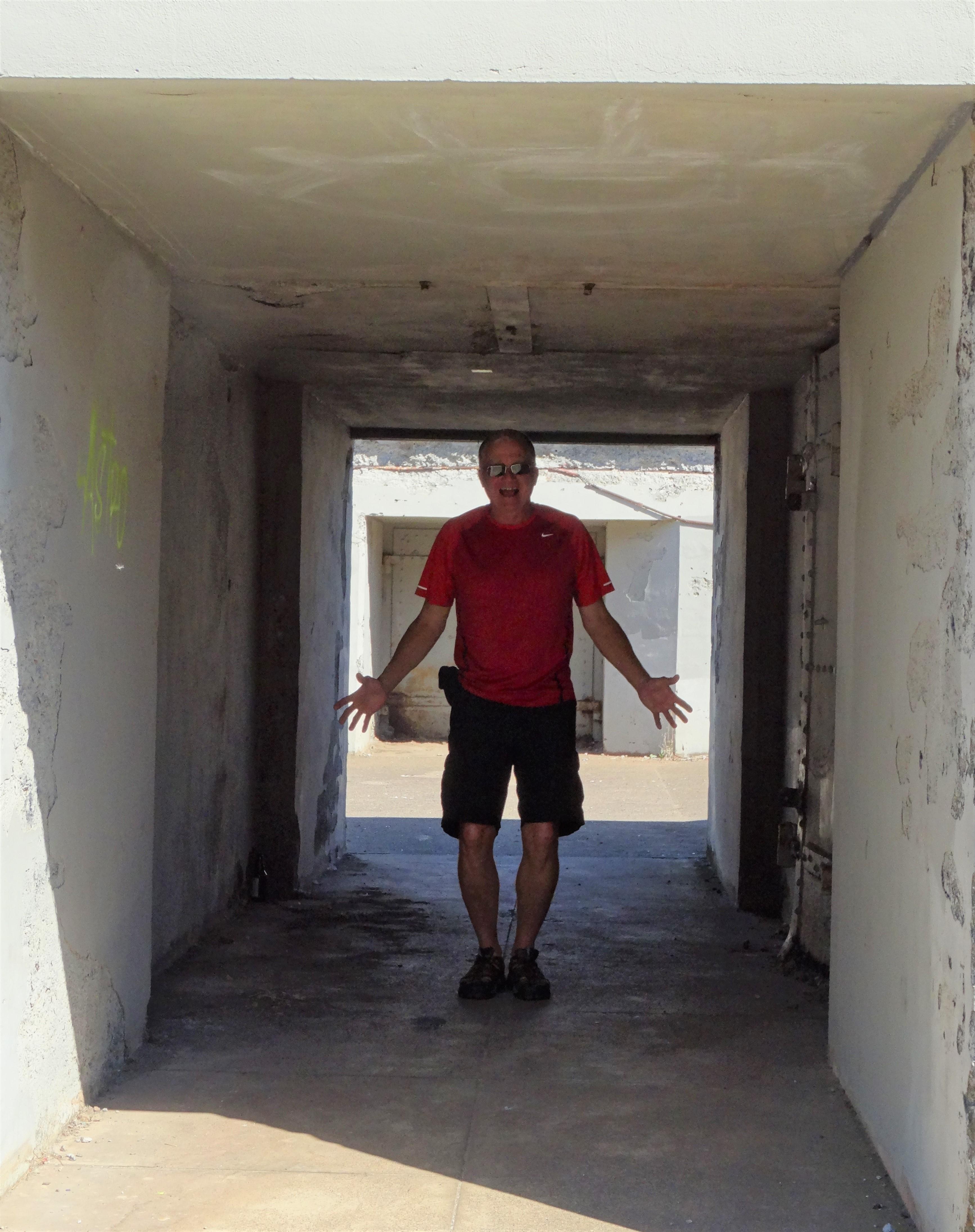 Trey in Kirby Battery Tunnel