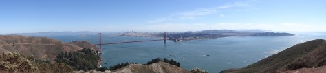 View of Golden Gate and San Francisco from Conzelman Rd