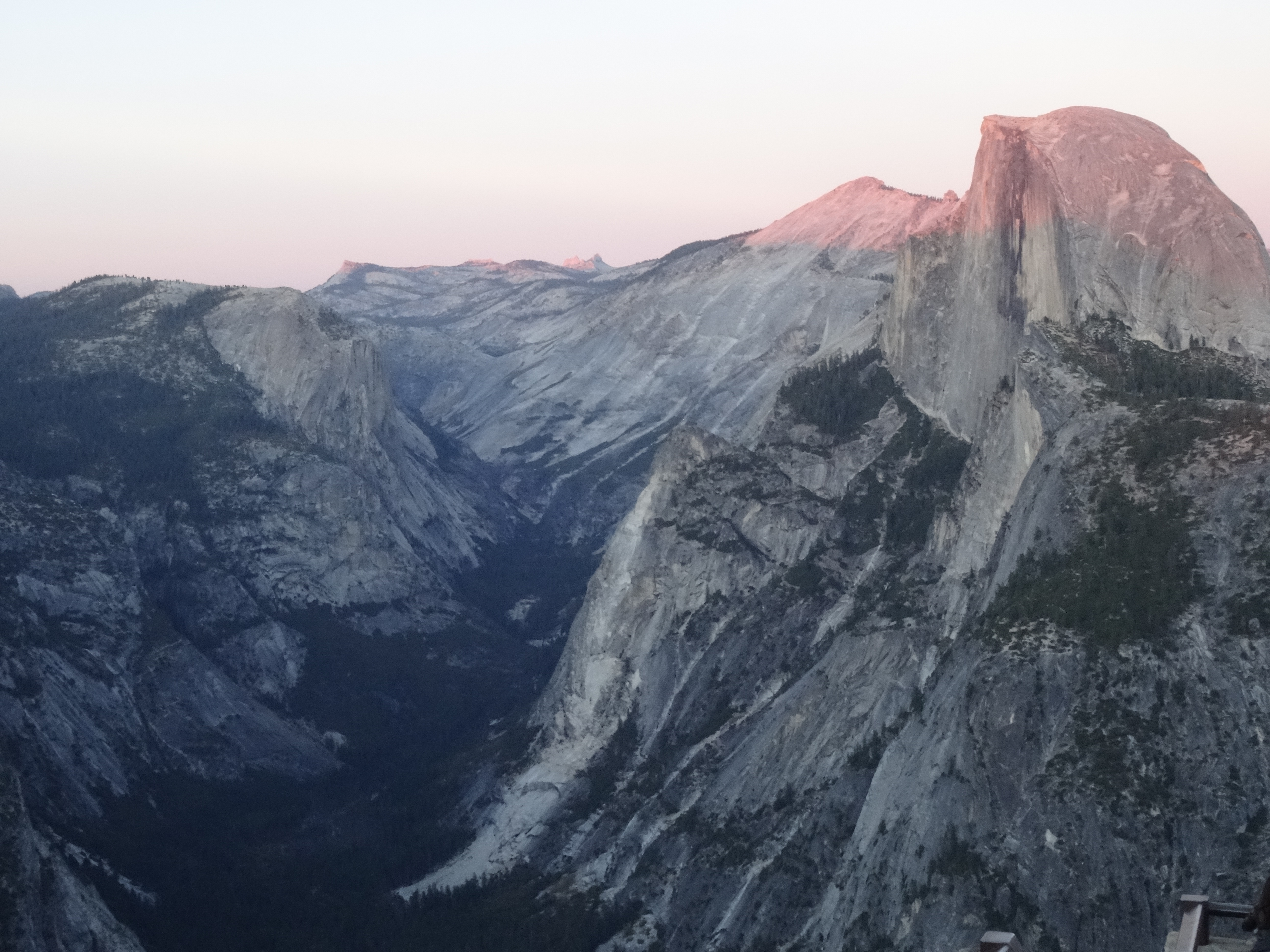 17 Yosemite Valley from Glacier Point at Sunset