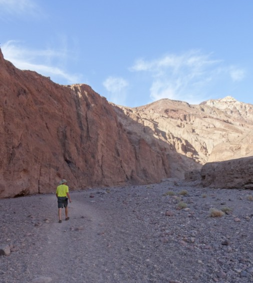 31 Trey heading down Natural Bridge Trail, Death Valley NP2