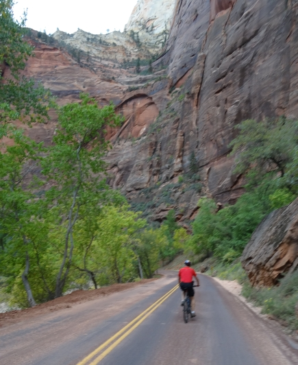 Heading Up Floor of the Valley Road, Zion NP
