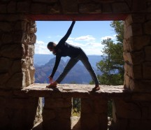 22 North Rim, Trikonasana
