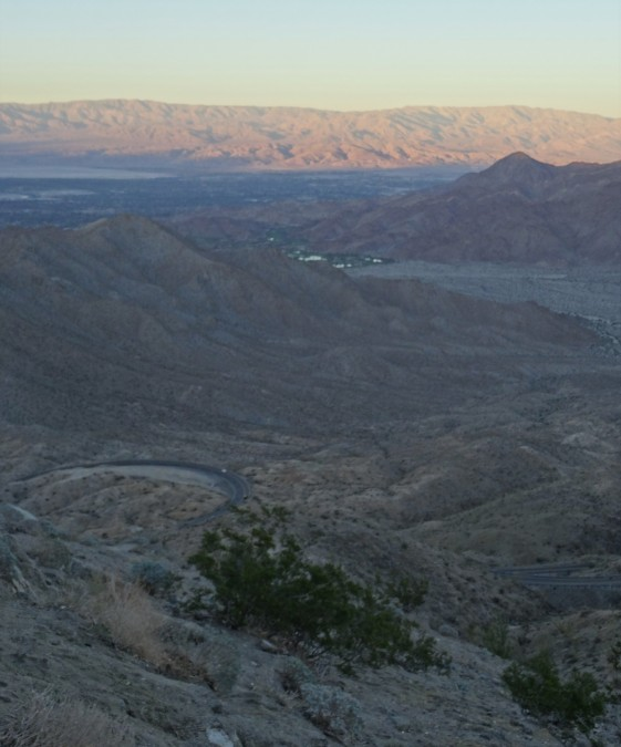 Heading down into Palm Springs area