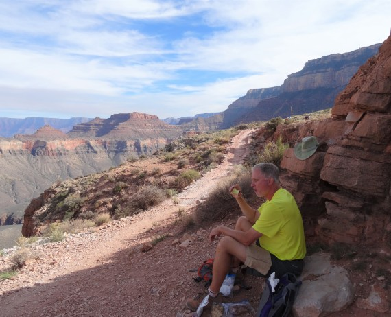 Lunch Break at Skeleton Point, Grand Canyon SR