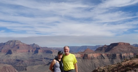 Posing at Skeleton Point, Grand Canyon SR