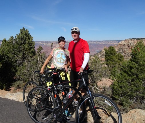Riding the S. Rim Trail, Grand Canyon