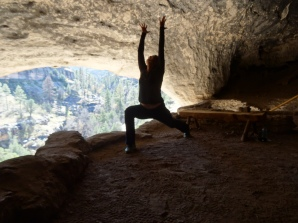 Anjaneyasana, Gila Cliff Dwellings NM